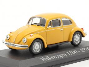 Volkswagen VW Käfer 1300 Year 1970 yellow 1:43 Altaya