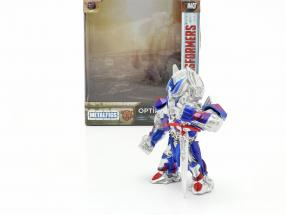 Optimus Prime figure 4 inch Transformers (2017) silver / blue / red Jada Toys