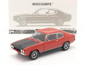 Ford Capri I RS 2600 Baujahr 1970 rot / schwarz 1:18 Minichamps