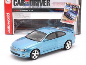 Pontiac GTO Coupe Year 2004 blue metallic 1:18 autoworld