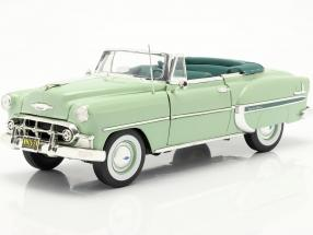 Chevrolet Bel Air Open Convertible year 1953 light green 1:18 SunStar