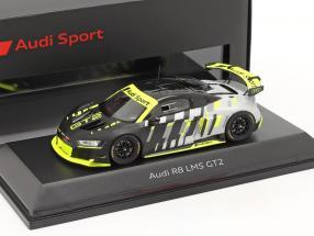 Audi R8 LMS GT2 Presentation Car black / grey / yellow 1:43 Spark