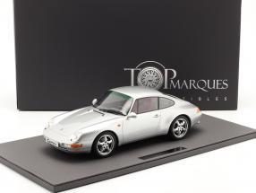 Porsche 911 (993) Carrera 2 year 1994 silver 1:12 TopMarques