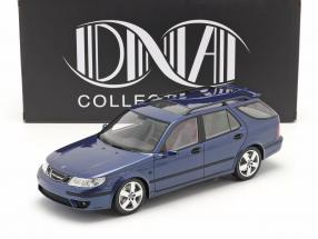 Saab 9-5 Sportcombi Aero year 2005 blue 1:18 DNA Collectibles