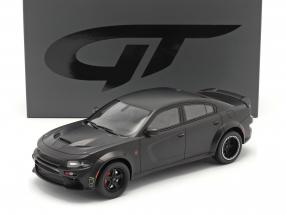 SPEEDKORE Dodge Charger SRT Hellcat Widebody 2019 mat black 1:18 GT-Spirit