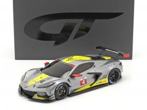 Chevrolet Corvette C8.R #4 Presentation Car 2020 grey / yellow 1:18 GT-Spirit