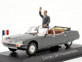 Citroen SM Presidentielle Open Cabriolet 1995 grey metallic 1:43 Norev