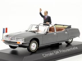 Citroen SM Presidentielle Open Cabriolet 1981 grey metallic 1:43 Norev
