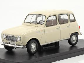 Renault 4L year 1964 cream white 1:24 Altaya