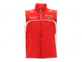 Bianchi / Chilton Marussia Team Vest Formula 1 2014 red / white Size L