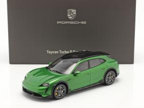 Porsche Taycan Turbo S Cross Turismo 2021 mamba green metallic With Showcase 1:18 Minichamps