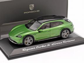 Porsche Taycan Turbo S Cross Turismo 2021 mamba green metallic 1:43 Minichamps
