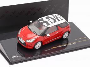 Citroen DS3 Sport Chic year 2011 red / white 1:43 Ixo
