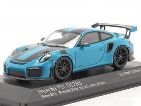 Porsche 911 (991 II) GT2 RS Weissach Package 2018 miami blue / black rims 1:43 Minichamps