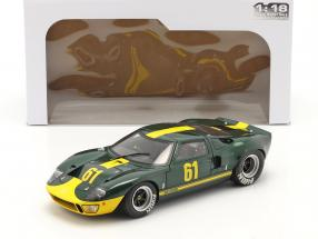 Ford GT40 MK1 #61 dark green metallic / yellow 1:18 Solido