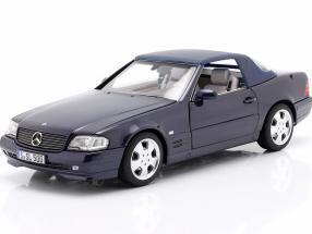 Mercedes-Benz 500 SL (R129) Facelift 1998-2001 azure blue 1:18 Norev