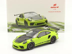 Porsche 911 (991 II) GT3 RS year 2018 green / black 1:18 Spark