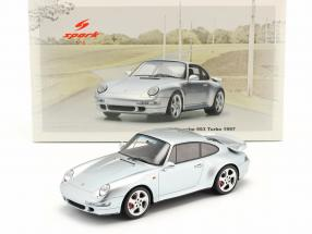 Porsche 911 (993) Turbo year 1997 silver 1:18 Spark