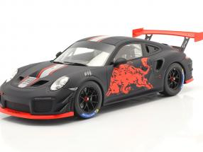 Porsche 911 GT2 RS Clubsport Red Bull 2019 black / red 1:18 Spark