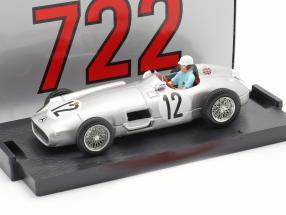 Stirling Moss Mercedes-Benz W196 #12 Winner British GP formula 1 1955 1:43 Brumm