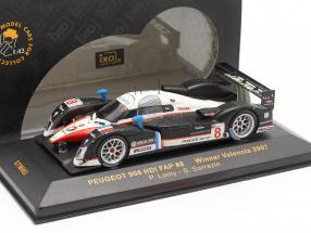 Peugeot 908 HDI FAP #8 Winner Valencia 2007 P. Lamy / S. Sarrazin 1:43 Ixo