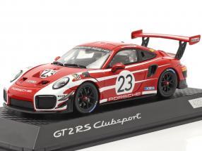 Porsche 911 (991 II) GT2 RS Clubsport Salzburg design taxi Leipzig 1:43 Spark