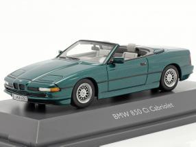 BMW 850 CI Convertible (E31) green metallic 1:43 Schuco
