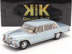 Mercedes-Benz 600 SWB (W100) year 1963 light blue metallic 1:18 KK-Scale
