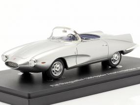 Fiat Stanguellini 1200 Spider America Bertone year 1957 silver 1:43 AutoCult
