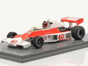 Gilles Villeneuve McLaren MCL23 #40 British GP formula 1 1977 1:43 Spark