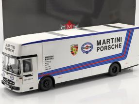 Mercedes-Benz O 317 Renntransporter Porsche Martini Racing weiß 1:18 CMR