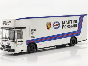 Mercedes-Benz O 317 Race Car Transporter Porsche Martini Racing white 1:18 CMR