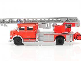 Mercedes-Benz L1519 fire department with telescopic ladder red / silver