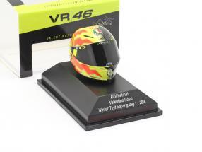 Valentino Rossi Winter Test Sepang Day 1 MotoGP 2018 AGV helmet 1:8 Minichamps