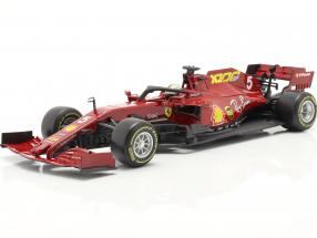 S. Vettel Ferrari SF1000 #5 1000th GP Ferrari Tuscan GP F1 2020 1:18 Bburago