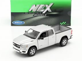 Dodge Ram 1500 year 2019 silver 1:24 Welly