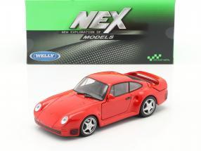 Porsche 959 red 1:24 Welly