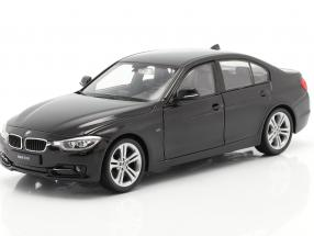 BMW 335i year 2014 black 1:24 Welly