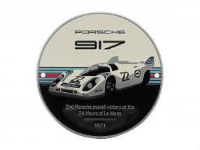 Plaque radiator grill Porsche 917K Martini #22 Winner 24h LeMans 1971
