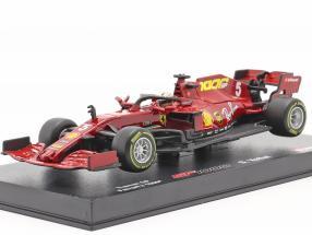 S. Vettel Ferrari SF1000 #5 1000th GP Ferrari Tuscan GP F1 2020 1:43 Bburago