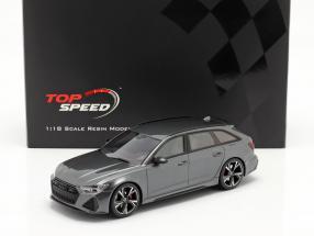 Audi RS 6 Avant (C8) Carbon Black Edition 2020 Daytona grey 1:18 TrueScale