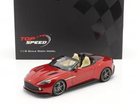 Aston Martin Vanquish Zagato Speedster year 2017 lava red 1:18 TrueScale