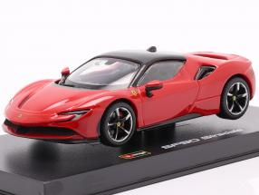 Ferrari SF90 Stradale year 2019 red 1:43 Bburago Signature
