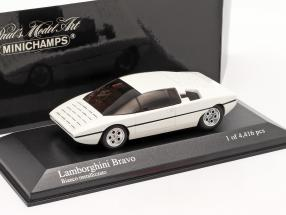 Lamborghini Bravo year 1974 repainted 2005 white metallic 1:43 Minichamps