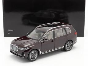 BMW X7 (G07) year 2019 ametrine red metallic 1:18 Kyosho