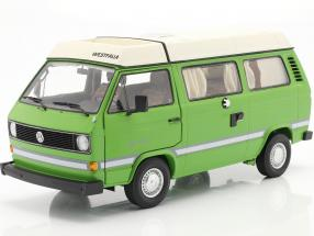 Volkswagen VW T3a Joker Camper with folding roof green 1:18 Schuco