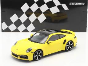 Porsche 911 (992) Turbo S year 2020 yellow 1:18 Minichamps