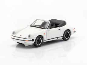 Porsche 911 Carrera 3.2 Convertible white 1:87 Schuco