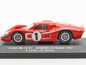 Ford GT40 MK IV #1 Winner 24h LeMans 1967 Gurney, Foyt