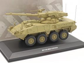 M1128 MGS Stryker Military vehicle sand colored 1:48 Solido